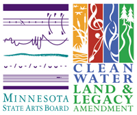 Minnesota State Arts Board logo and Clean Water, Land and Legacy Amendment logo